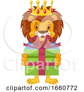 Lion With Birthday Present