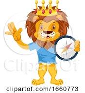Lion With Compas