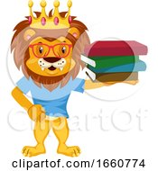 Lion With Books