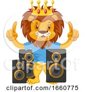 Lion With Speakers