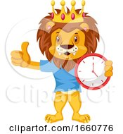 Lion With Clock