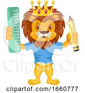 Lion With Pen And Ruler