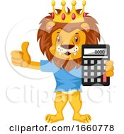 Lion With Calculator