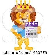 Lion With Calendar