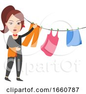 Woman Spread Clothing