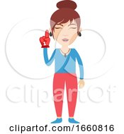Woman With Red Glove