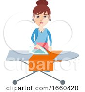 Woman Iron Clothes