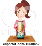 Woman Making Natural Juice