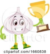 Garlic Holding Trophy