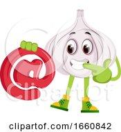 Garlic With At Symbol