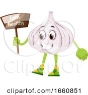 Garlic With Sign