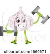Garlic Lifting Weights by Morphart Creations