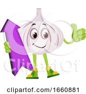 Garlic With Purple Arrow by Morphart Creations
