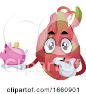 Dragon Fruit With Piggy Bank