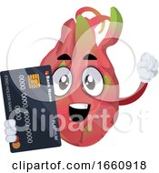 Dragon Fruit With Credit Card