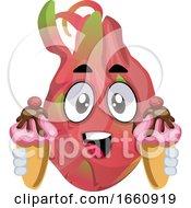Dragon Fruit With Ice Cream