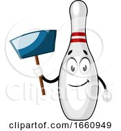 Bowling Pin With Dust Pan