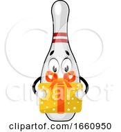 Bowling Pin With Birthday Present