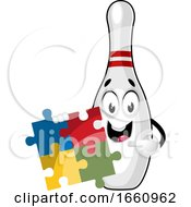 Poster, Art Print Of Bowling Pin With Puzzle