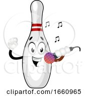 Bowling Pin With Microphone