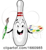 Bowling Pin With Color Palette