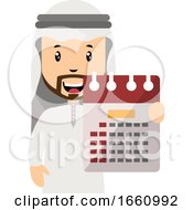 Arab With Calendar