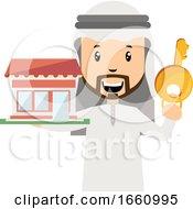 Arab With Big Key