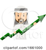 Arab With Profit Arrow