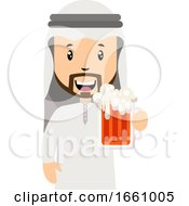 Arab With Beer