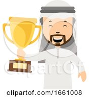 Arab With Trophy