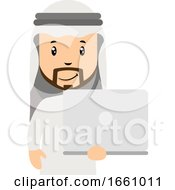 Arab With White Laptop