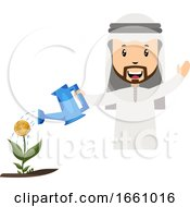 Arab Watering Flower by Morphart Creations