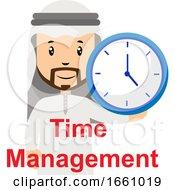 Arab With Clock