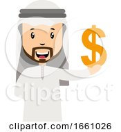 Arab With Dollar Sign