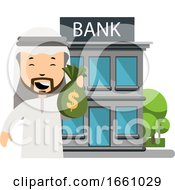 Arab At The Bank