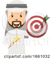 Arab With Target