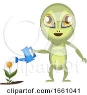 Alien Watering Flowers