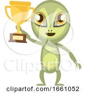 Alien With Trophy