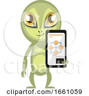 Alien With Cellphone