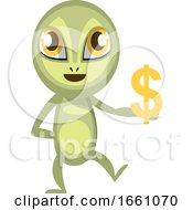 Alien Holding Dollar Sign
