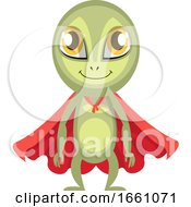 Alien With Red Cape