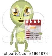 Alien With Calendar