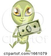 Alien Holding Money