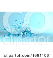 Geometric Shape Fountain Background