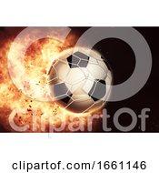 3D Eploding Fiery Football  Soccer Ball