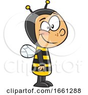 Cartoon White Boy In A Bee Costume