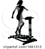 07/31/2019 - Gym Woman Silhouette Treadmill Running Machine