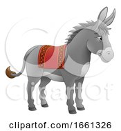 07/31/2019 - Donkey Animal Cartoon Character