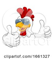 07/31/2019 - Chicken Rooster Cockerel Bird Sunglasses Cartoon