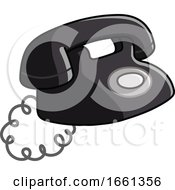 07/31/2019 - Cartoon Old Black Telephone